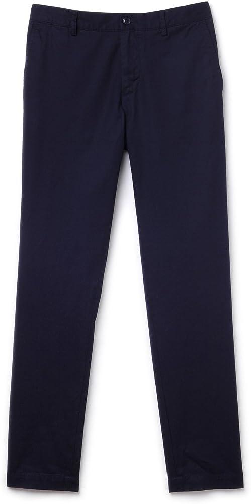 Amazon Com Lacoste Mens Pant Hh8238 166 Pantalones Casuales 34 Azul Clothing
