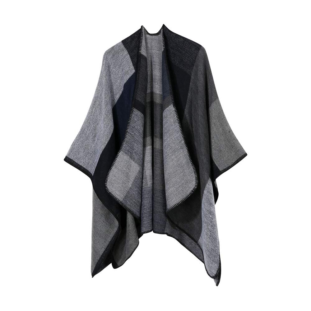 Excellent Women's Fall Winter Scarf Cloak Tassel Cape Mantle Scarf Ardent Cushy Kerchief Wrap Shawl Scarves (Color : Gray, Size : 51.1 x 59.06 Inch') by Excellent