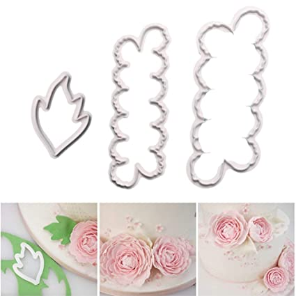 Amazon Com Sakolla Set Of 3 The Easiest Peony Flowers Cookie Cutter