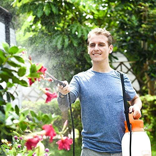 ガーデニング噴霧器、ポータブルガーデン電気じょうろフラワープレスガーデニング噴霧器灌漑缶ツール