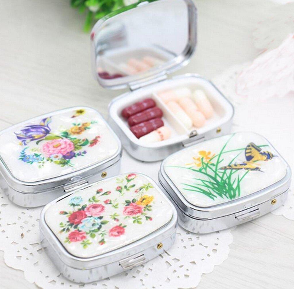 1 PCS Folding pill case container for Medicines Organizer Pill box Portable Pill cutter Splitters pastilleros pildoras estuche pillbox xff