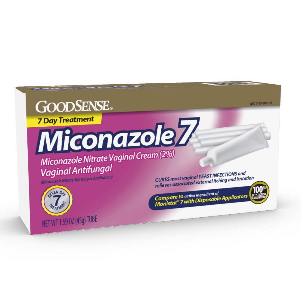 GoodSense Miconazole 7, Miconazole Nitrate Vaginal Cream (2%), Vaginal Antifungal, 7-Day Treatment