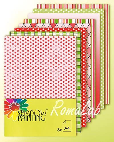 8 Hojas de papel impreso A4 para Scrapbooking Scrap colores rojo y verde Navidad: Amazon.es: Hogar
