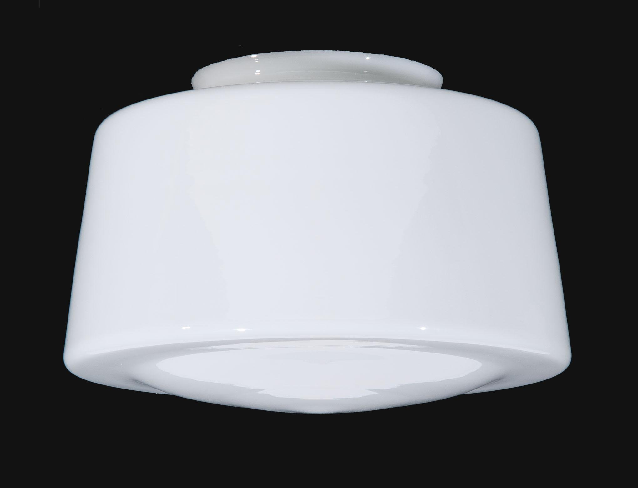 B&P Lamp 12'' Opal Glass Schoolhouse Shade by B&P Lamp