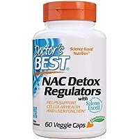 Doctor's Best NAC Detox Regulators with Seleno Excell, Non-GMO, Vegetarian, Gluten Free, Soy Free, 60 Veggie Caps