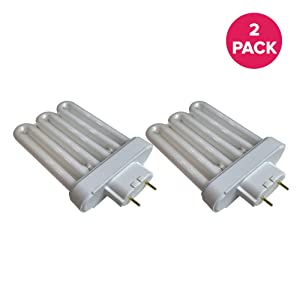 "Think Crucial Fluorescent Light Replacements - Compatible with AeroGarden Part # 100633 - Extra Elite, PRO200, 6 Elite+, Deluxe Upgrade Kit & Veggie Pro A Bulb - 6.9"" X 4.6"" X 2.6"" in. (2 Pack)"