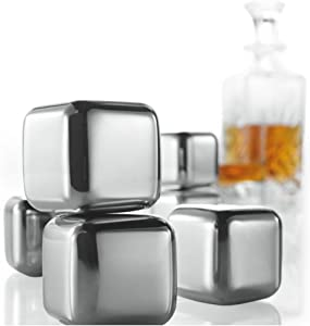 Brookstone n'ICE Cubes Stainless Steel Drink Chillers