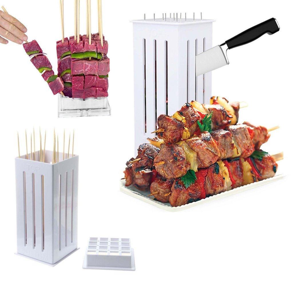iMustbuy BBQ Grill Maker 16 Bambo Skewers Food Slicer Brochette Grill Kebab Maker Box Kit Unbranded