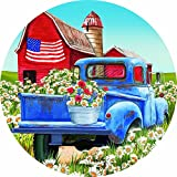 Accent Magnet-Rustic Tractor - Auto - Home - Kitchen -Yard -Six (6) Inch - Made in USA - Licensed , Copyrighted by Custom Decor Inc.