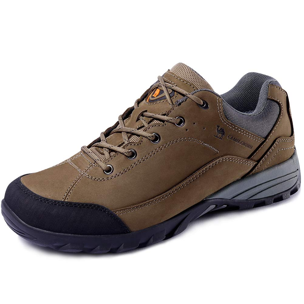 6b273fee6bdb CAMEL CROWN Men's Lightweight Breathable Leather Hiking Shoes for ...
