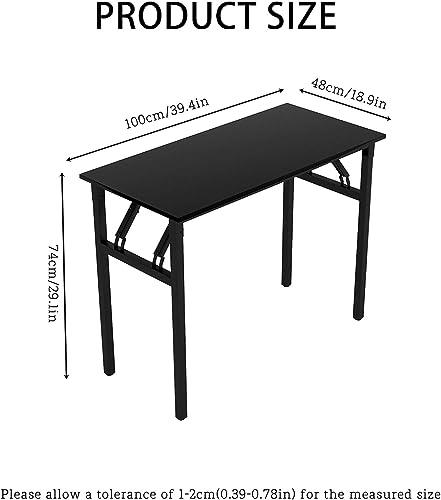 39″ Home Office Desk Foldable Table No Assembly Required Desk Corner Desks