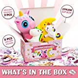 Jumbo Unicorn Squishies Toys, Slow Rising Giant,3 Pack Gift Box Stress-Relief Fidget for Kids and Adults By SquishSquish