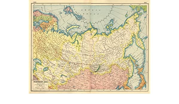 Asia Map Siberia.Amazon Com Russia Northern Asia Siberia Mongolia Arctic Ocean
