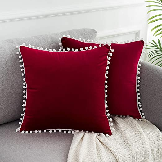 Decorative Red Valentine/'s Quilted Throw Cotton Pillow Cover