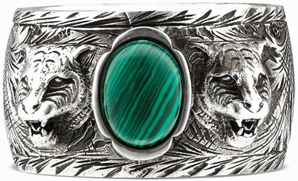 Anillo Gucci Jardn de antigedades de Plata de tamao de 14 de Resina Verde YBC461991001