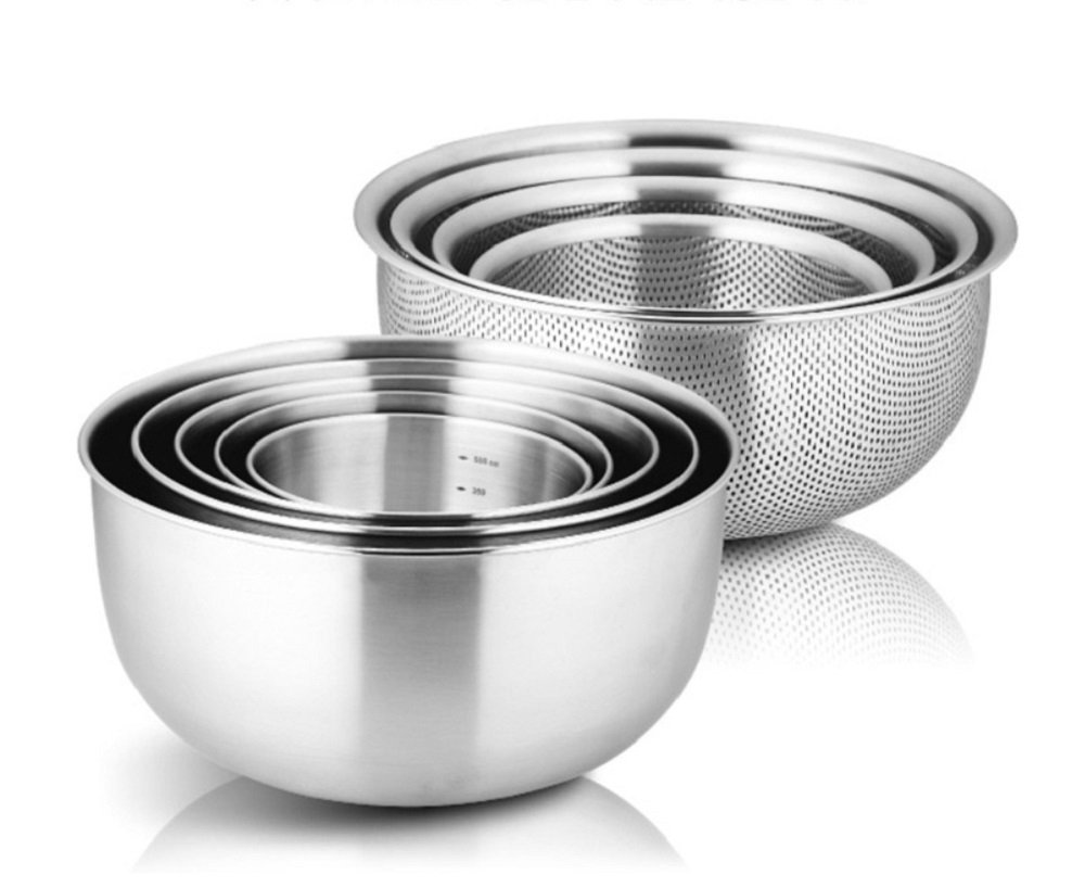 Cookever Cook304 Premium Stainless Steel Mixing Bowl 9P Set