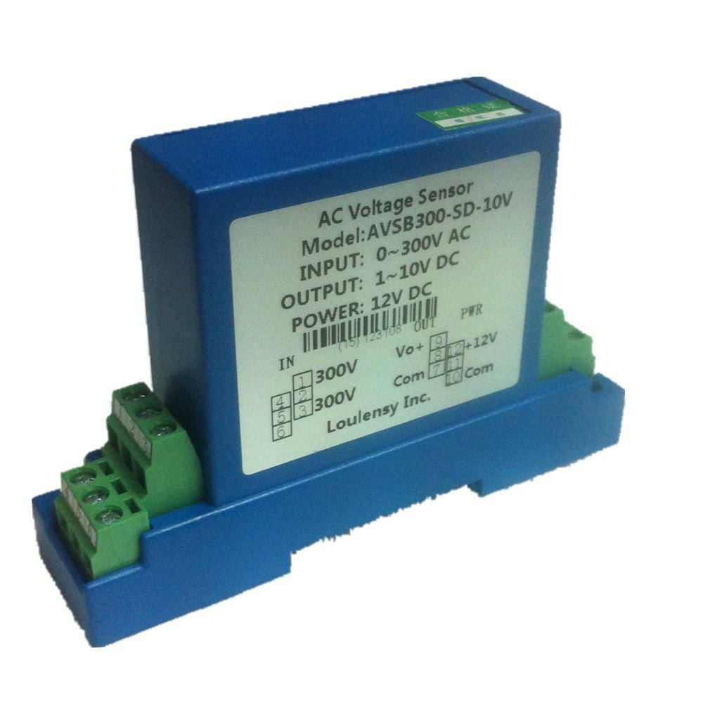 Loulensy AC Voltage Transducer Voltage Sensor Transmitter Transformer Input 0-400V AC Output 0-10V DC