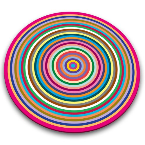 Joseph Joseph COLR014AS Colored Rings Worktop Saver, 12 inches - Glass Round Cutting Board