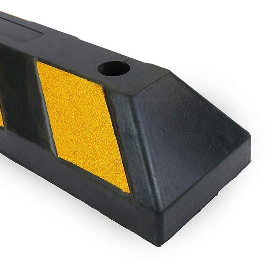 PrimeMatik - Tope de suelo para ruedas de parking aparcamiento de goma 55 cm 2-pack: Amazon.es: Electrónica