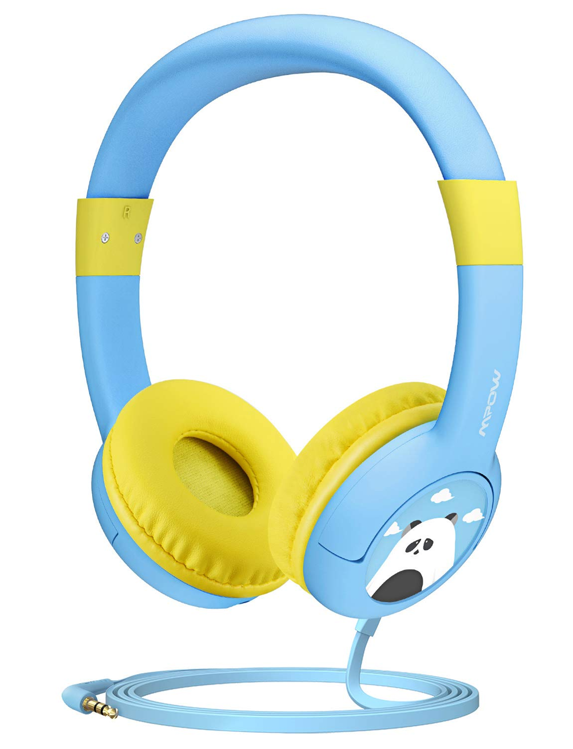 Mpow CH1 Kids Headphones w/85dB Volume Limited Hearing Protection & Music Sharing Function, Kids Friendly Safe Food Grade Material, Tangle-Free Cord, Wired On-Ear Headphones for Children/Toddler/Baby by Mpow
