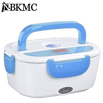 NBKMC Calentador de Comidas Calentador de Alimentos Caja de Almuerzo de Calentamiento Eléctrico Portátil con Función