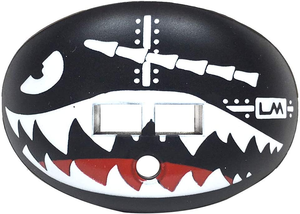 Loudmouth Football Mouth Guard | Military Flying Tiger Adult and Youth Mouth Guard | High Impact Mouth Piece for Sports