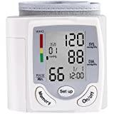 Blood Pressure Monitor Wrist Accurately Monitor with 90 Memory Capacity,Heart Rate & Irregular Heartbeat Detector, Date and Time