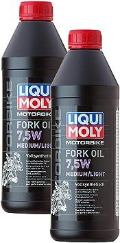 2x Liqui Moly 2719 Motorbike Motorradfork Oil Gabelöl Stoßdämpfer 7 5w Medium Auto