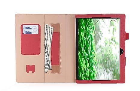 ISIN Premium PU Funda Cover Carcasa con Stand Función para Lenovo Ideapad MIIX 320 10,1