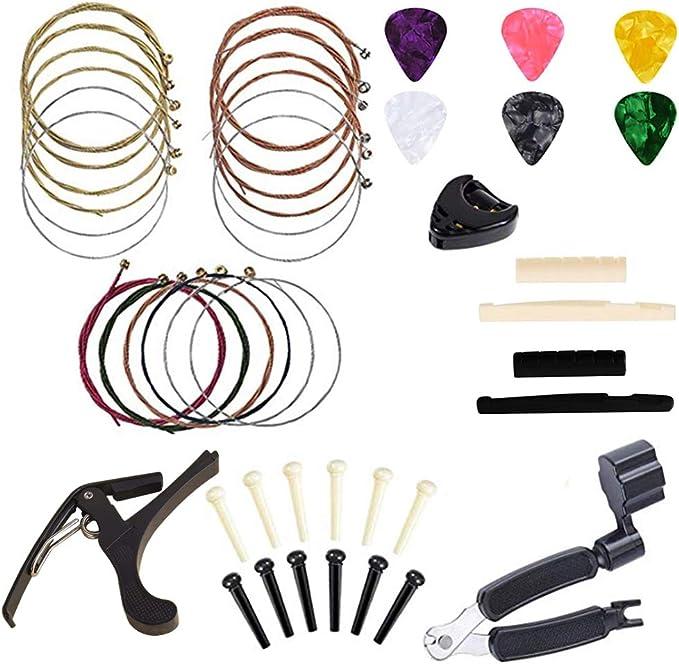 Kit de accesorios de guitarra Borya todo en 1 para cambiar ...