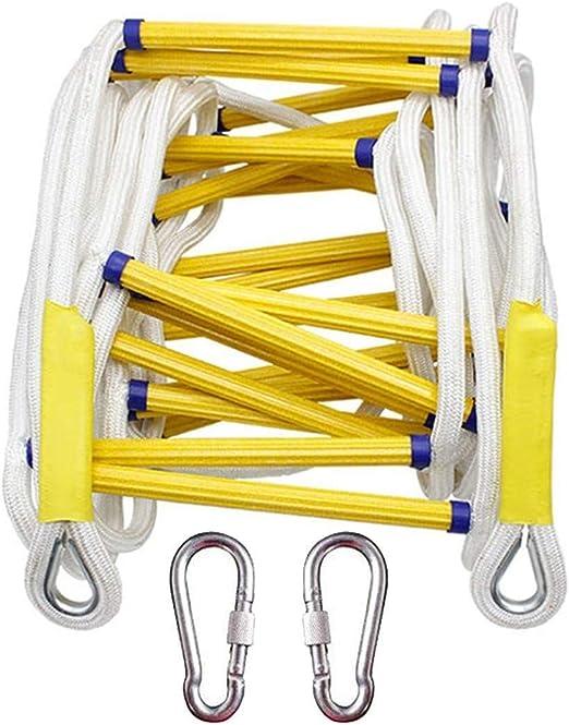 Escalera De Cuerda, La Cuerda De Emergencia Escalera De Incendios - Con Gancho Y Cinturón De Seguridad -
