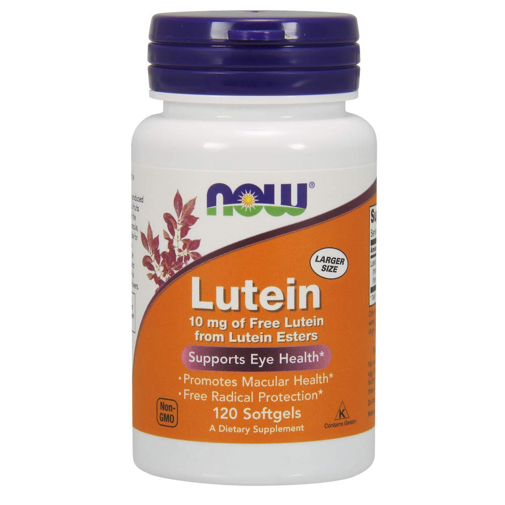 NOW Foods Lutein 10 mg Softgels, 120 by NOW Foods
