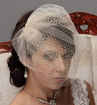 Amazon Com Deniferymakeup Bircage Veil Bridal Hair Piece