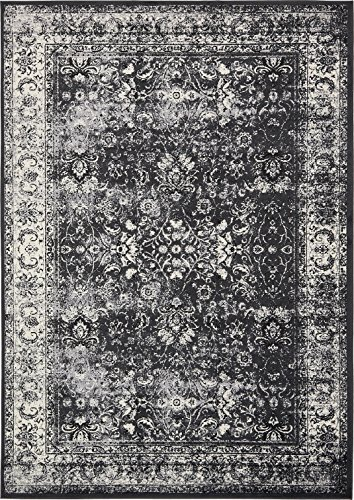 Luxury Modern Vintage Inspired Overdyed Area Rugs Light Gray 8' x 11' 6 FT Artis Designer Rug Colorful Craft Rugs and - Vintage Inspired