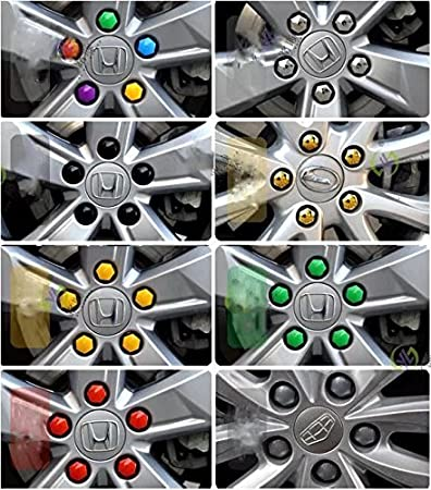 17mm Hex Wheel Bolt Nut Cap Covers 20 Standard Ones plus Removal Tool Universal For Any Cars RICISUNG