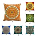 Retro Floral Bohemian Style Geometric Cotton Linen Home Throw Pillow Case