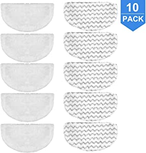 DEKIRU Steam Mop Washable Cleaning Pads Replacement for Bissell Powerfresh Steam Mop 1940 1440 1806 Series Bissell Steam Floor Mops, Compare to Part # 5938 & 203-2633 Vacuum Cleaners (10 Pack)
