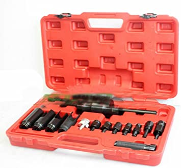 14Pcs Diesel Injector Extractor Remove /& Common Rail Adaptor Puller Slide Hammer
