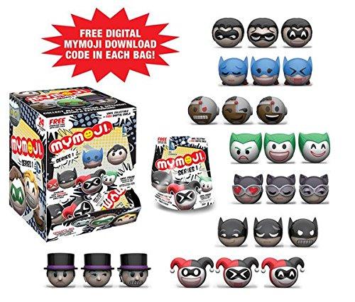Funko MyMoji DC Comics Mini Toy Action Figure Emoji and Exclusive Digital Download Emoji in each pack - 2 Random Packs