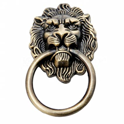 Vintage Retro Style Lion Head Antique Door Pull Knobs Handles Cabinet  Drawer Cupboard Chest Dresser Ring - Amazon.com: Vintage Retro Style Lion Head Antique Door Pull Knobs