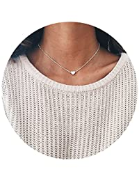 Love Heart Star Necklace Collar Chain Alloy Dainty Everyday Simple Jewelry