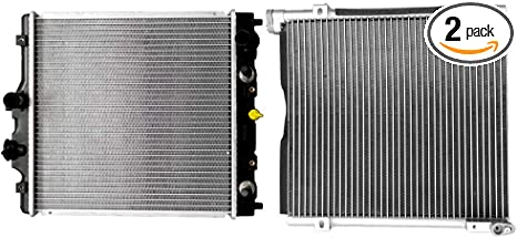 OCPTY Aluminum AC A//C Condenser Replacement fit for 1996-2000 Honda Civic 1.6L AC4730 CU4730