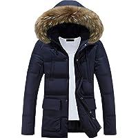 Glestore Homme Manteau d'Hiver Veste Chaude en Cotton Parka à Capuchon en Fourrure Mens Outdoor Jacket MY0903