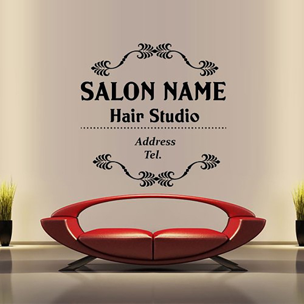 Amazon wall decal decor decals art name hair salon custom amazon wall decal decor decals art name hair salon custom beauty hairstyle hairdresser signboard sign inscription girl m1419 home kitchen amipublicfo Images
