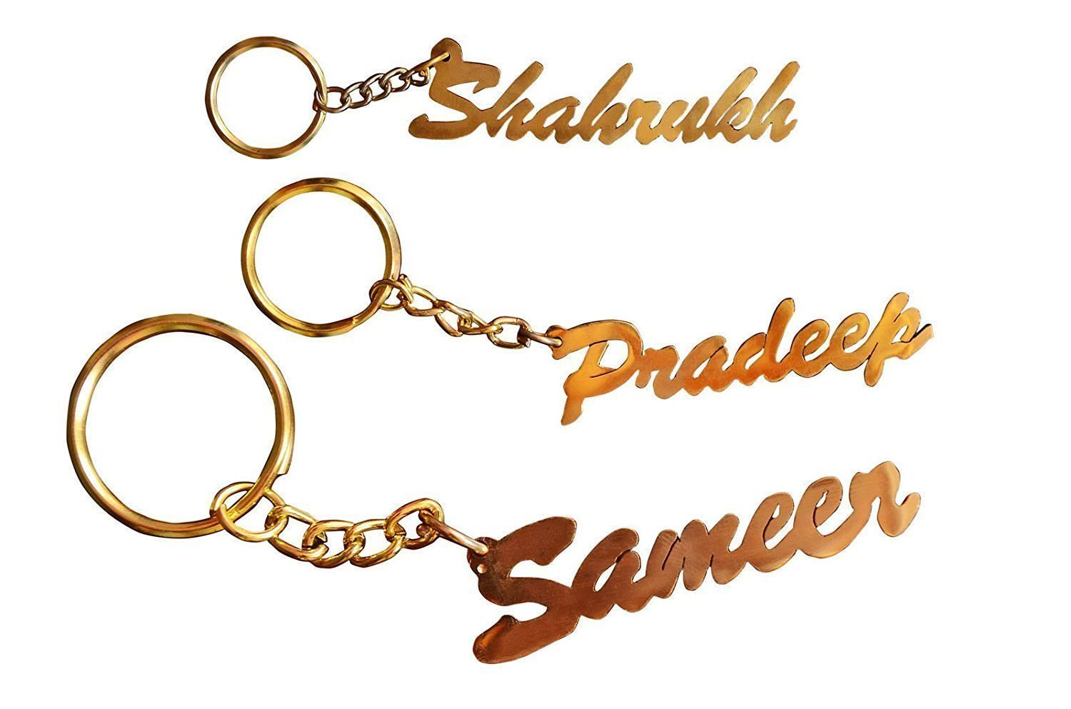 Sajal Personalized Name Brass Keychain: Amazon.in: Bags, Wallets ...