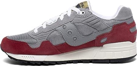Saucony Shadow 5000 Grey/Red, Zapatillas de Atletismo Unisex Adulto