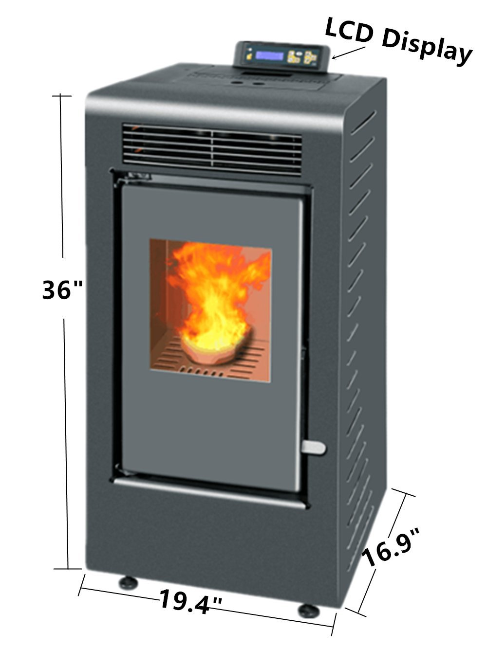 Nextstep Freestanding Electric Fireplace Pellet Stove Heater - Small pellet stoves