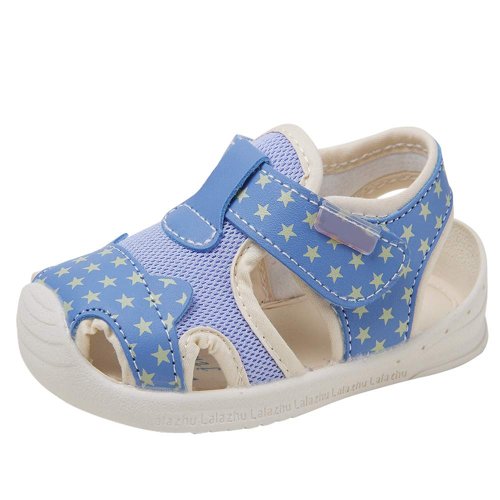 Baby Summer Sandals Mesh Rubbler Sole Outdoor Athletic Strap Breathable Closed-Toe for Boys Girls