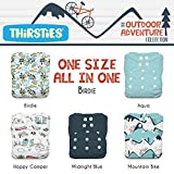Thirsties Package, Snap One Size All In One, Outdoor Adventure Collection Birdie