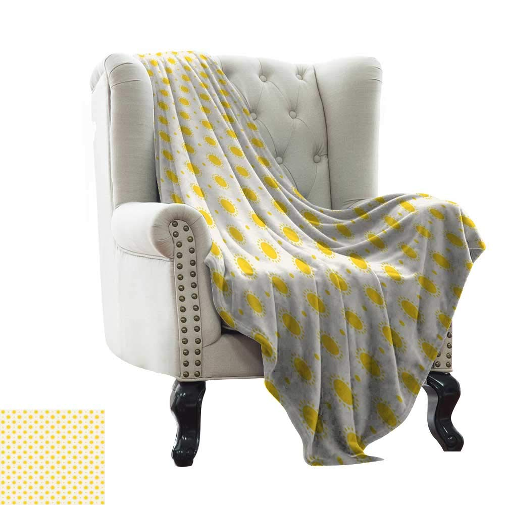 color12 LsWOW Women's Blanket Geometric,Striped Pattern with Tropical Tones Diagonal Stripes Design Abstract,Seafoam Yellow White Soft, Fuzzy, Cozy, Lightweight Blankets 70 x90